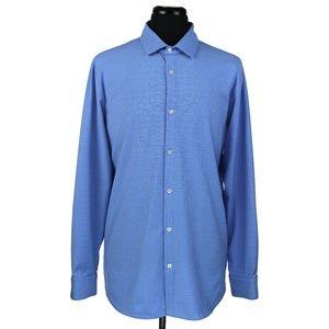 Mizzen+Main Trim Fit Long Sleeve Shirt Blue XXL